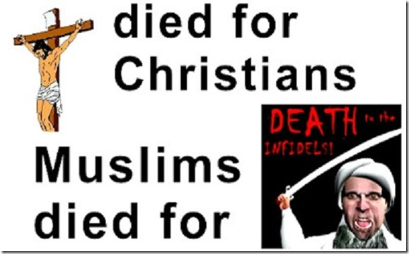 Jesus died for humanity - Muslims die for Mo