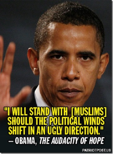 Obama Quote- I'll Stand with Muslims - Audicity of Hope
