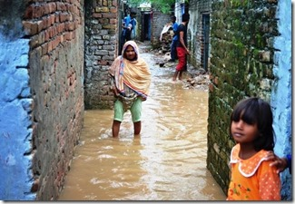 Pakistan drainage system at slums