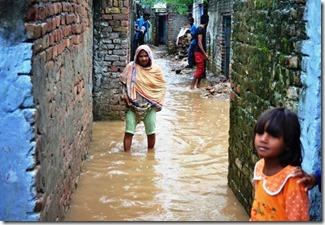 Pakistan drainage system at slums