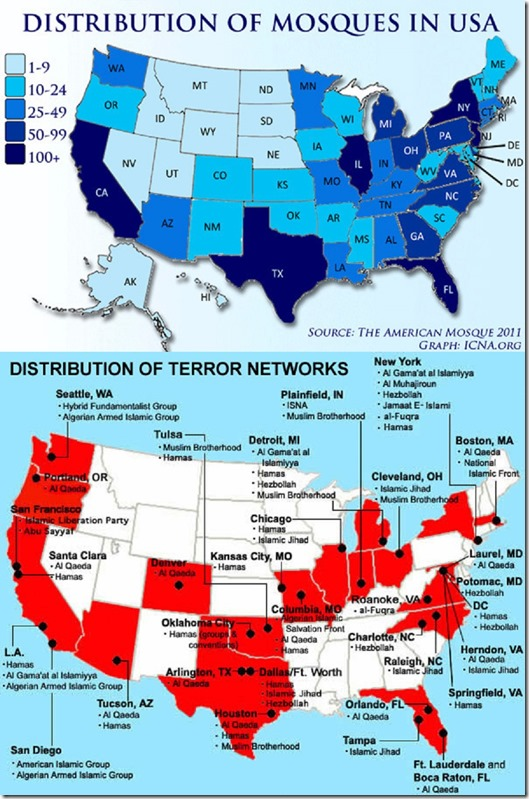 U.S. Mosque-Terror Networks Distribution LG map