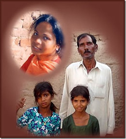 Asia Bibi, Ashiq Masih - husband & children