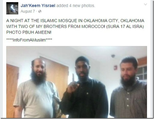 Jah'Keem Yisrael ISIS Salute OK City Mosque screenshot