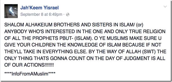 Jah'Keem Ysrael Facebook Screenshot