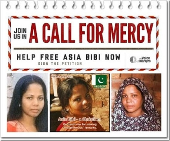 Save Asia Bibi - VOM appeal mercy