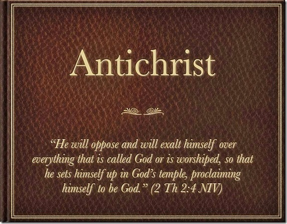 Antichrist. 2 Th 2-4 NIV