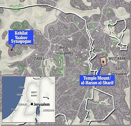 Jerusalem map includes Kehilat Yaakov Synagogue