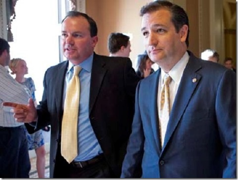 Senators Mile Lee - Ted Cruz AP Photo