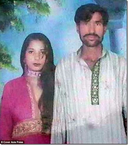 Shama Bibi (left) and Shehzad (Sajjad) Masih - Burnt alive by Muslims