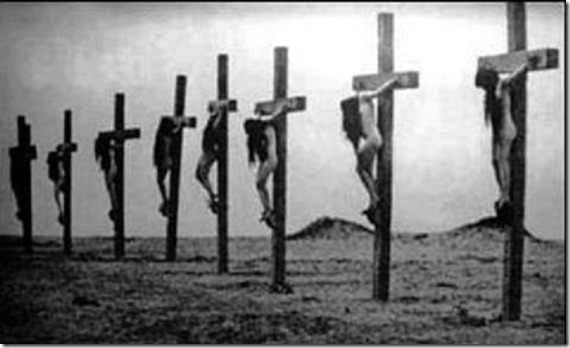 Stripped Armenian Christian girls Crucified in Turkey