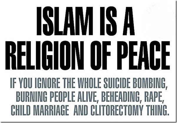 Islam Rel of Peace Except...
