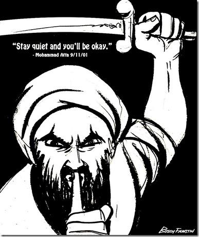 Muslim Sword shushing Christians