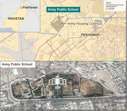 Pakistan Army School Peshawar - map & satellite