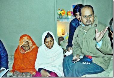 Sehrish (18yrs) & Farzana (14yrs) with Shamim 12-2014