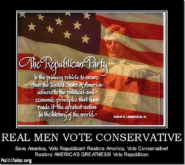 Vote Conservative Republican