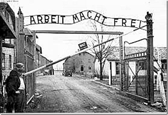 Auschwitz gate - Arbeit Macht Frei
