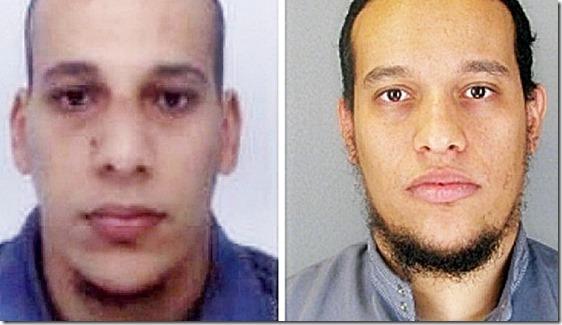 Cherif Kouachi, 32, (L) and his brother Said Kouachi, 34, (R)