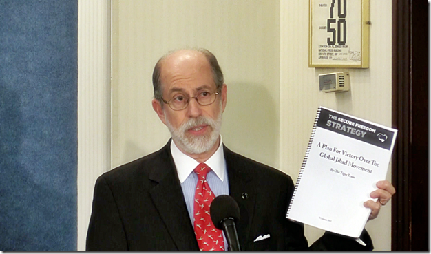 Frank Gaffney, JR. holding Secure Freedom Strategy Report