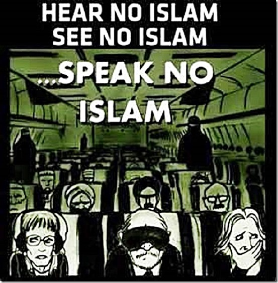Hear No, See No, Speak No -- Islam