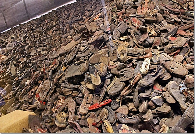 Mountain of shoes from Auschwitz
