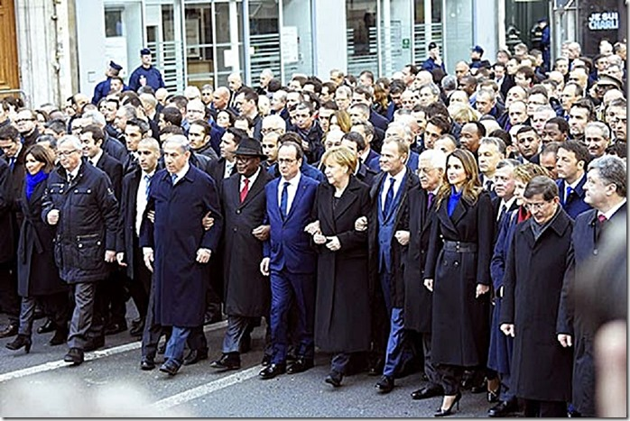 World Leader Paris France Unity March