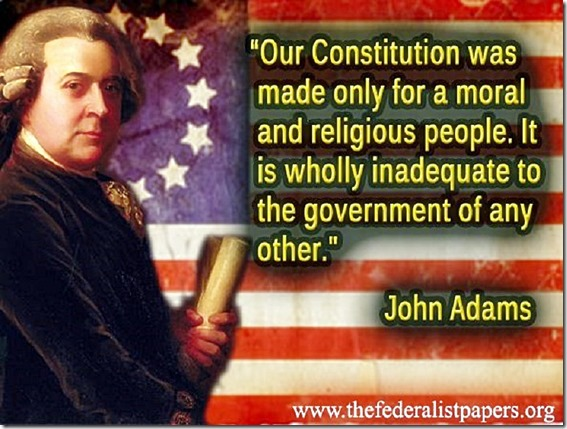 Adams on Constitution - Made for Christian Moral People