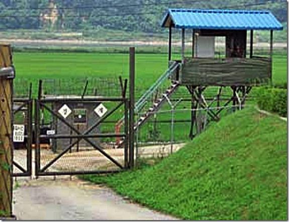 DMZ Fence sentry station