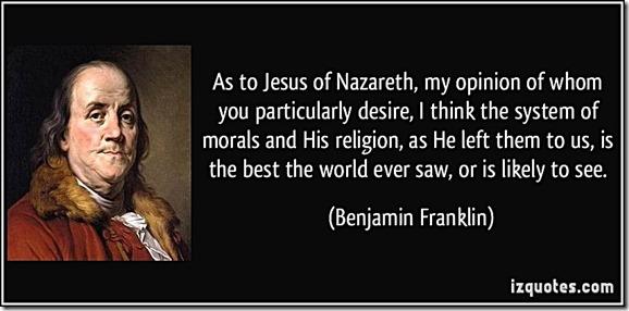 Franklin- Moral System of Jesus & Christianity best ever