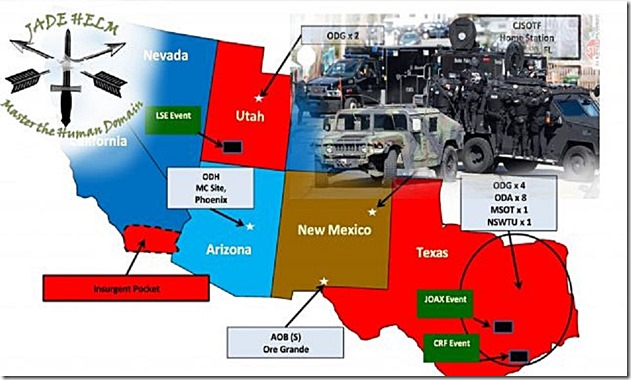 Jade Helm 15 Map