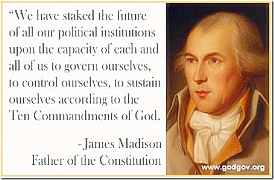 Sustain Govt by 10 Commandments - J. Madison