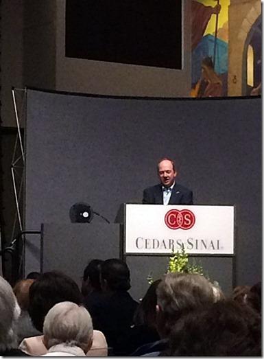 E. Randol Schoenberg at Speaker's Podium