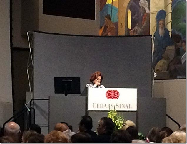 Esther Blau at Speaker's Podium