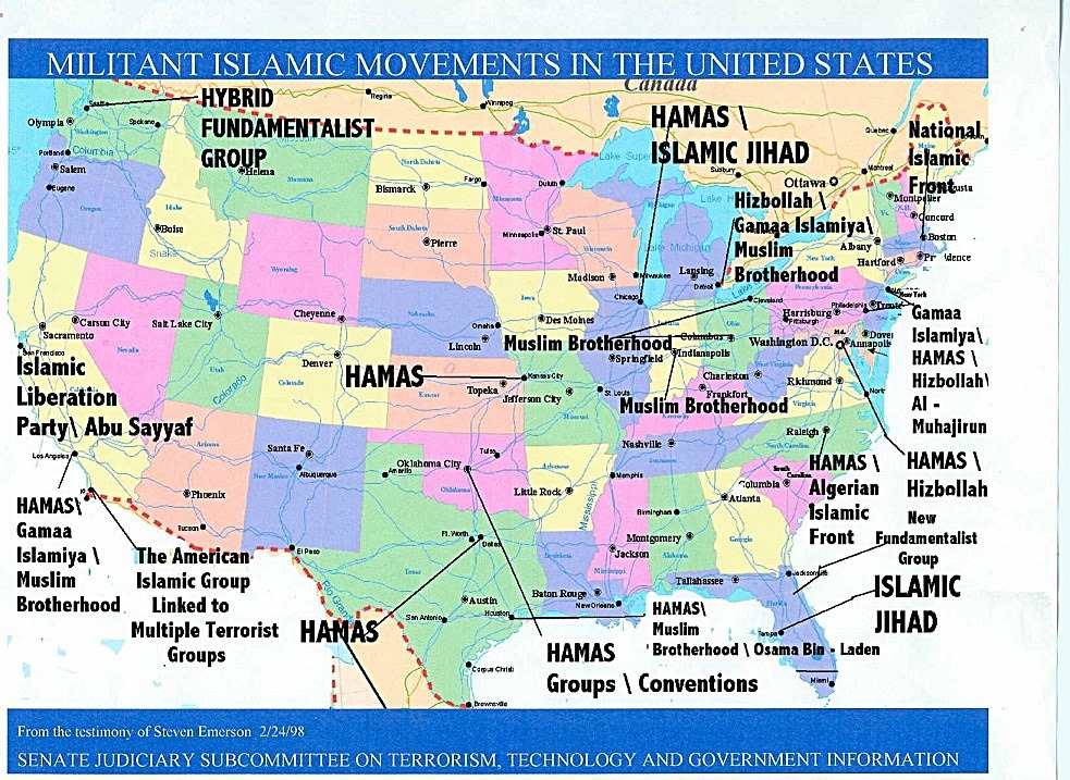 Iraq The NeoConservative Christian Right - Map of 98 us designated terrorist groups locations