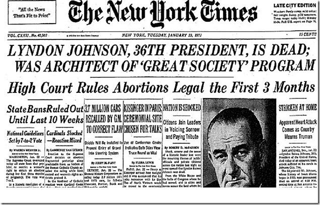 SCOTUS rules abortion legal