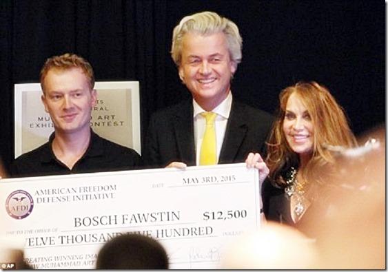 Bosch Fawstin, Geert Wilders, Pam Geller- Mo toon Contest - 5-3-15