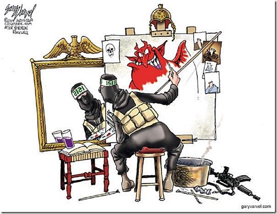 Cartoonist Gary Varvel: ISIS self portrait
