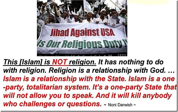 Islam a Totalitarian Political Party