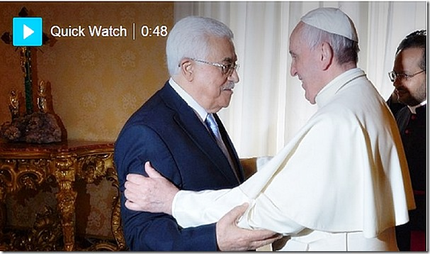Pope Francis welcomes PA President Mahmoud Abbas 5-16-15