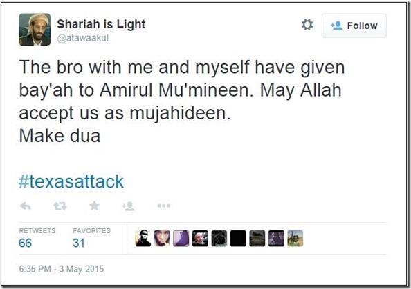 Sharia is Light Tweet