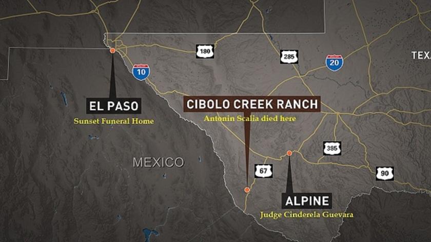 Cibolo Creek Rancy on TX road map