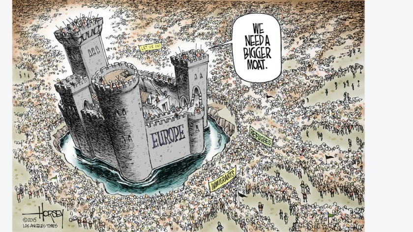 Europe Needs bigger Moat against Muslims toon