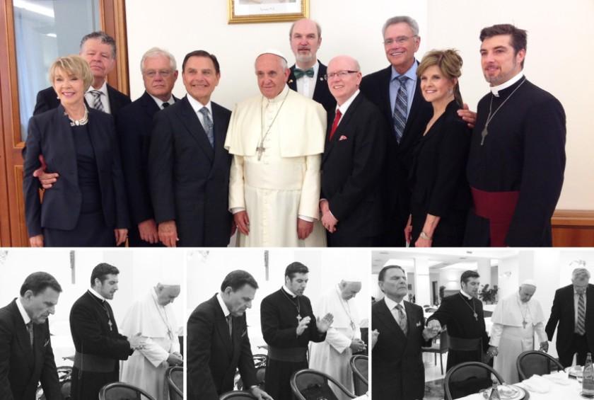 Ken Copeland, Pope Francis & Tony Palmer front row