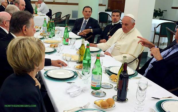 Tony Palmer, seated beside Pope Francis