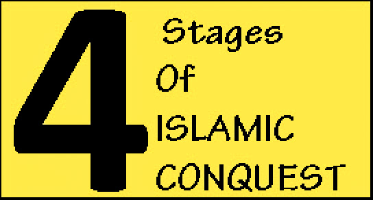 4 stages of islamic conquest banner
