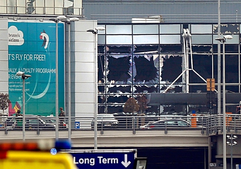Aftermath of the Brussels attack on Zaventem airport (Photo- © Reuters) 3-22-16