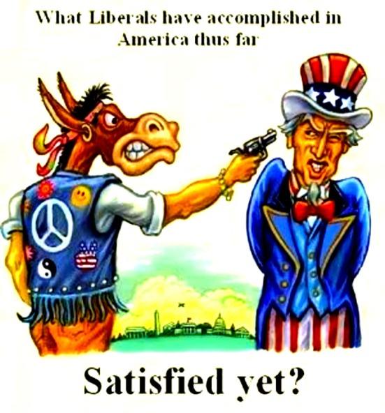 Dem Ass gun to American Uncle Sam