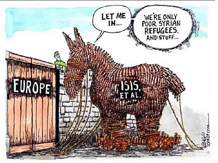 Islamic terrorist Trojan Horse to EU