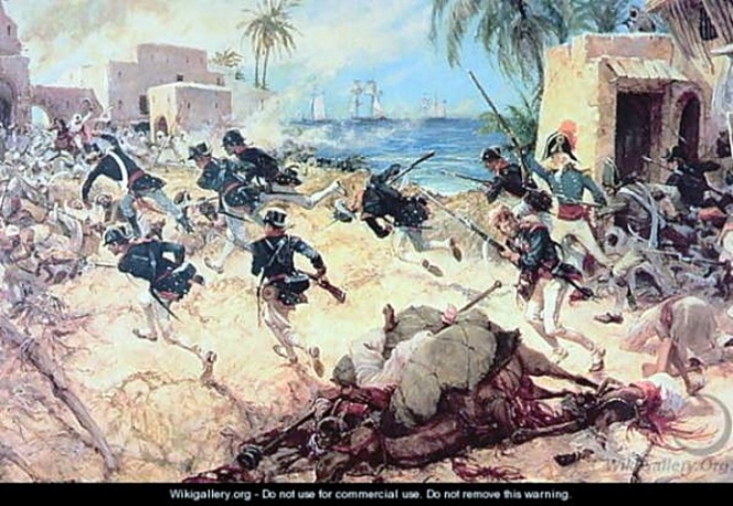 Marines capture Derna 1805