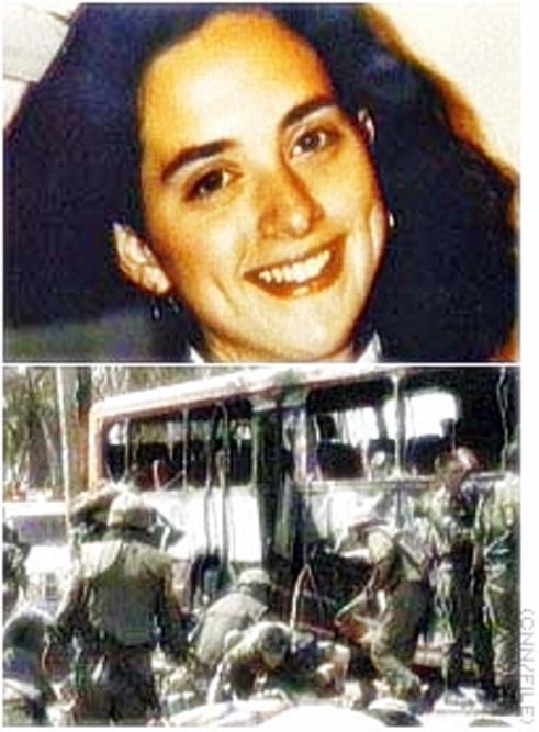 Alisa Flatow & scene of terrorist bombing