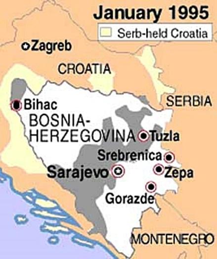 Bosnia-Herzegovina map 1-1995